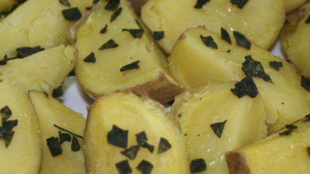 Baked Potato With Black Sea Salt Flakes
